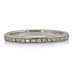 Narrow Eternity Band in Palladium and Diamonds