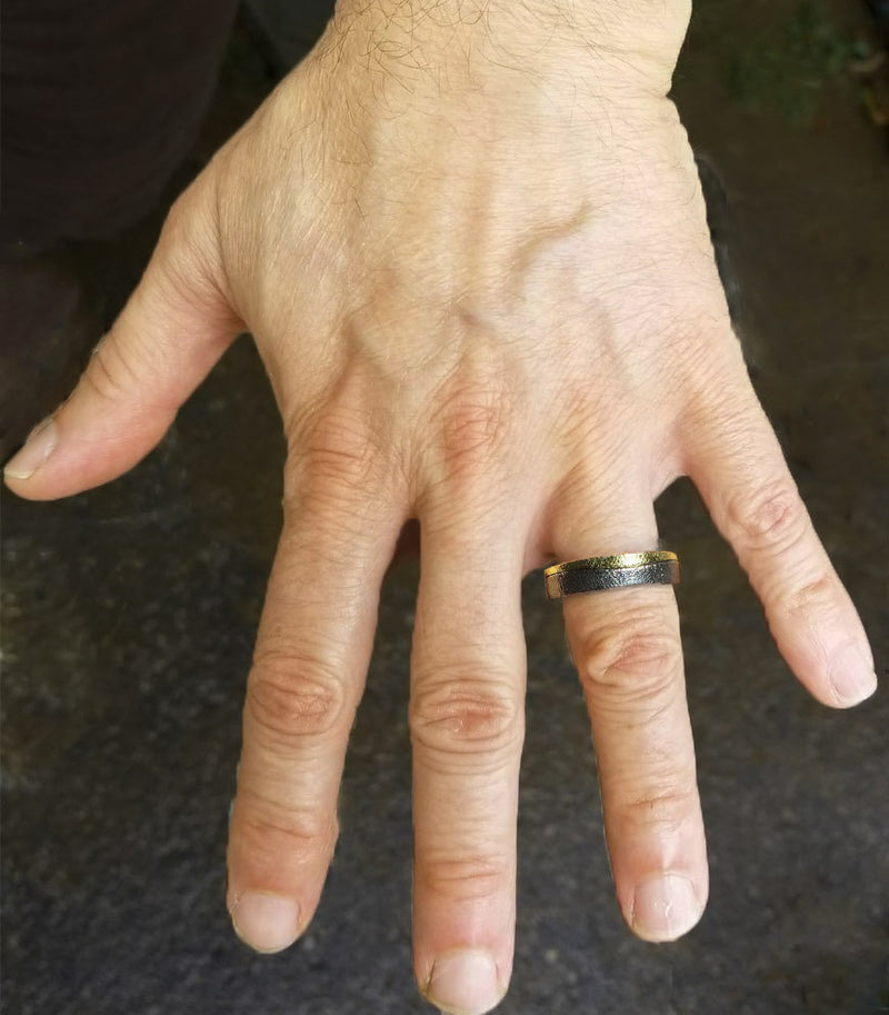 Flat Band on man's hand