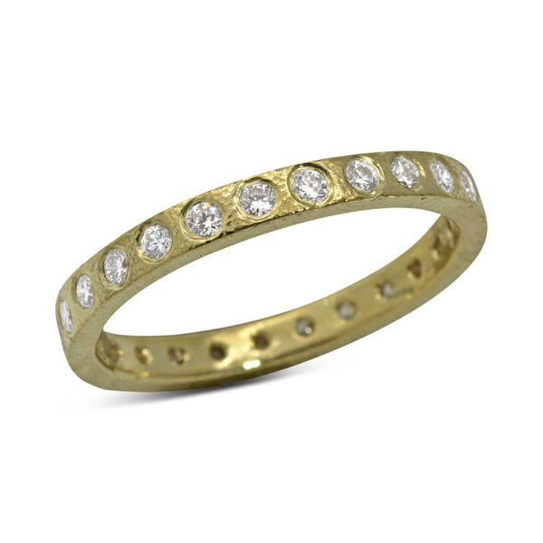 Flat Diamond Gold Band