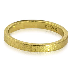 Gold Flat Textured Band