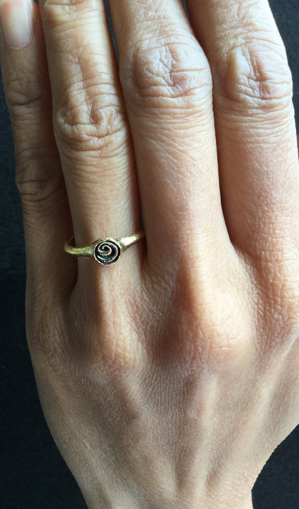 Spiral Ring on hand