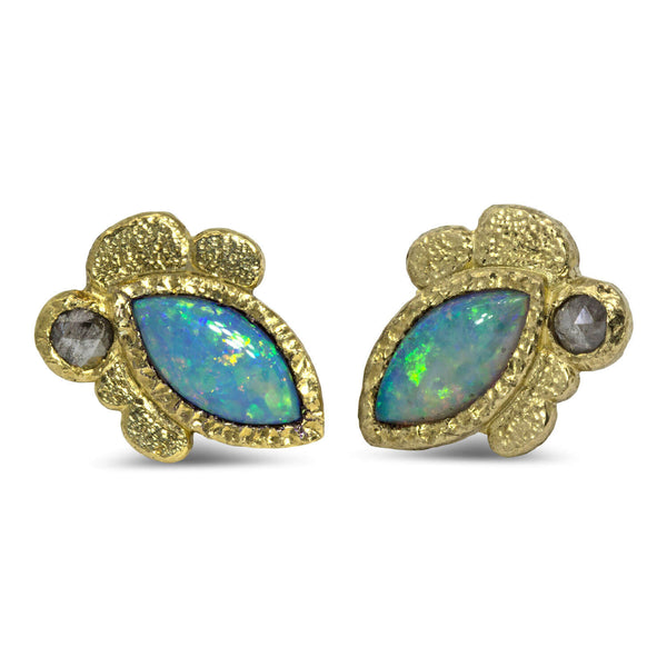 Marquise Opal Stud Earrings