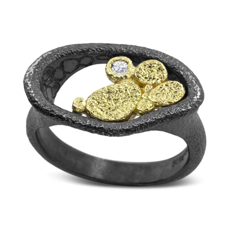 Open Pebble Pond Ring