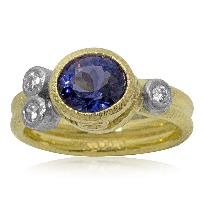 One of a kind Purple Blue Spinel Ring