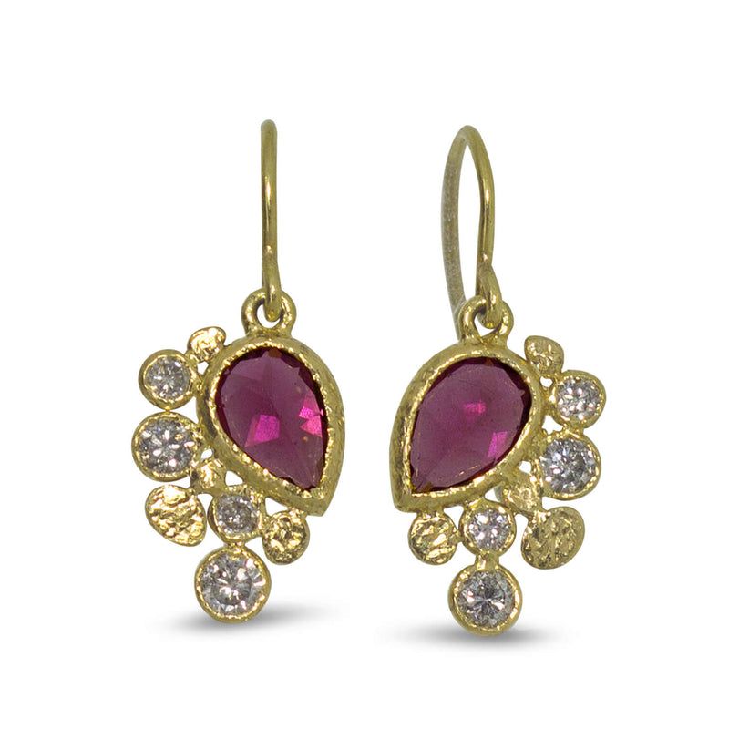 Rhodolite Dangle Earrings