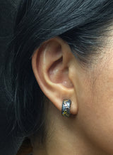 River Pebbles Cuff Earring on ear