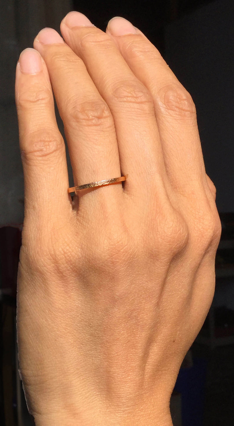 Rose Gold Textured Band