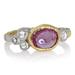 Skinny Pebbles Pink Sapphire Ring