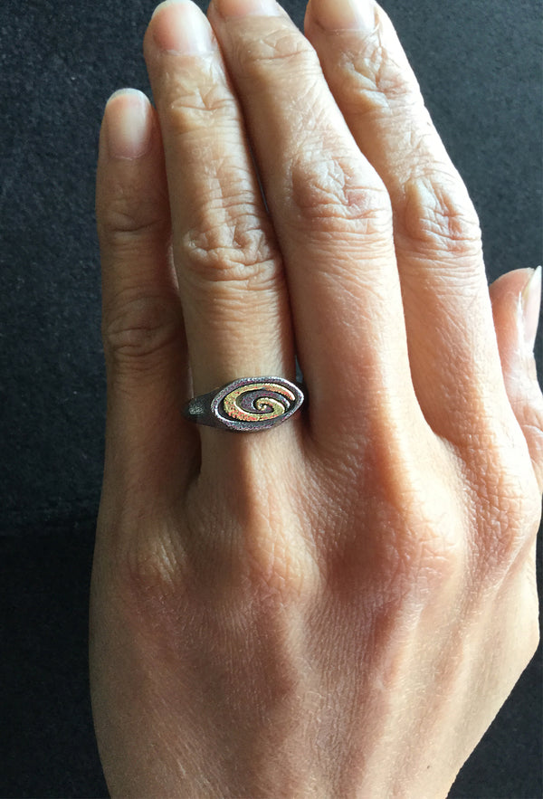 Double Spiral Ring hand