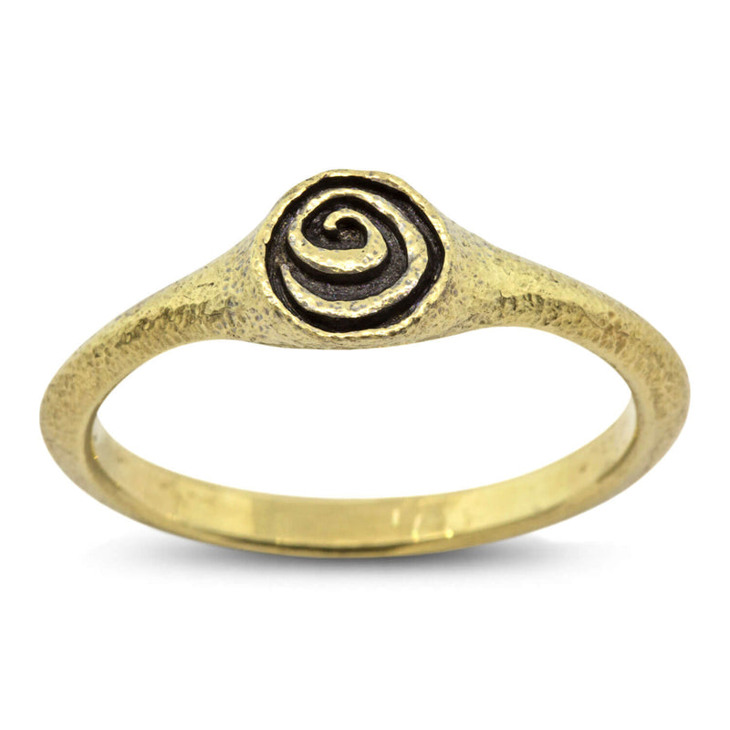Spiral Ring in 18k yellow gold