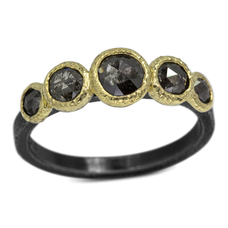 Stones and Pebbles Ring with diamonds