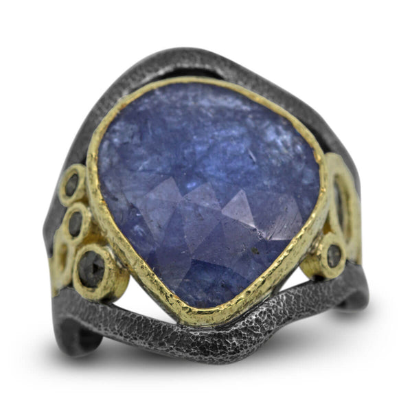 Mountain Stream Ring with Tanzanite and Diamonds