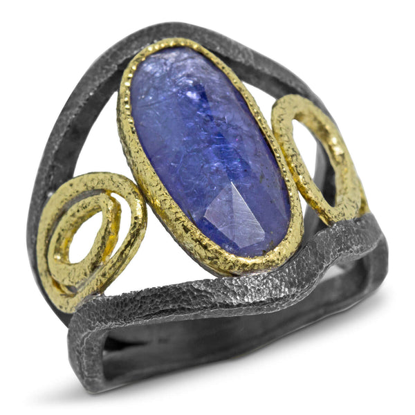 Mountain Stream Ring with Tanzanite