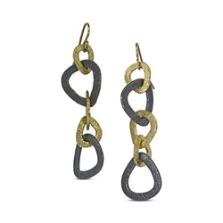 Trillion Link Dangle Earrings