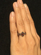 Wave Garnet Ring on hand