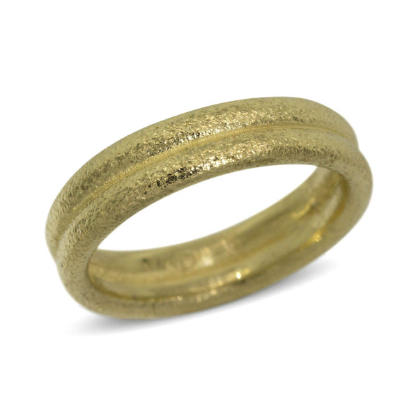 Double Band in 18k yellow gold