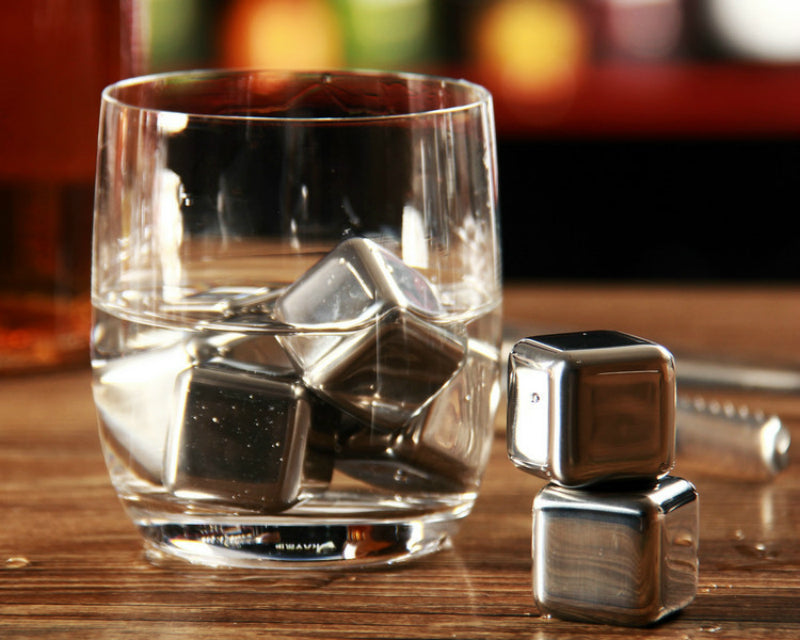 Stainless Steel Ice Cubes - My Pretty Kitchen