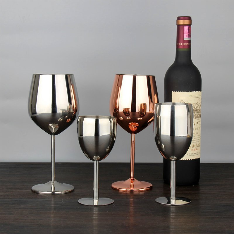 Stainless Steel Wine Glass - My Pretty Kitchen