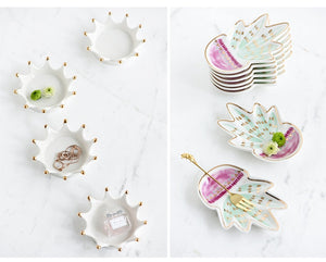 Playful Assorted Ceramic Snack plates - My Pretty Kitchen