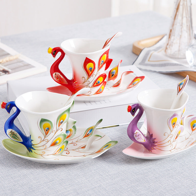 Hand Crafted Cup Set with Saucer And Spoon - My Pretty Kitchen