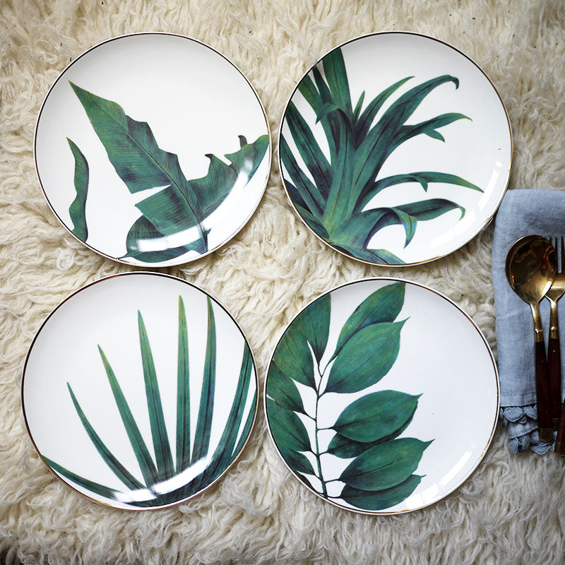 Rainforest Ceramic Plate - My Pretty Kitchen