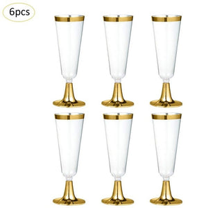 Disposable Plastic Champagne Flutes - My Pretty Kitchen