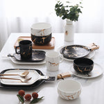 Assorted Gold Marble Table Ware - My Pretty Kitchen