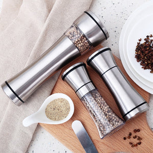 Stainless Steel Salt and Pepper Shakers - My Pretty Kitchen