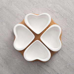 Love Heart Snack Platter Set - My Pretty Kitchen