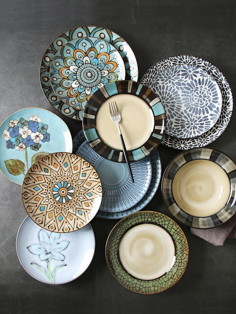 Geometric Ceramic Side Plates - My Pretty Kitchen