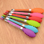 Colorful Silicone Food Tongs - My Pretty Kitchen
