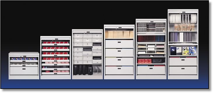 "LTO and Hard Drive Multi Media Cabinet 83"" (with 14 Shelves)"