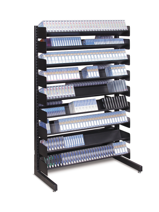 "LTO & Hard Drive Storage Rack 54"" Single-Sided (8 Shelves)"