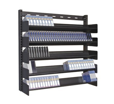 LTO & Hard Drive Wall Mounted Rack - 5 Shelves