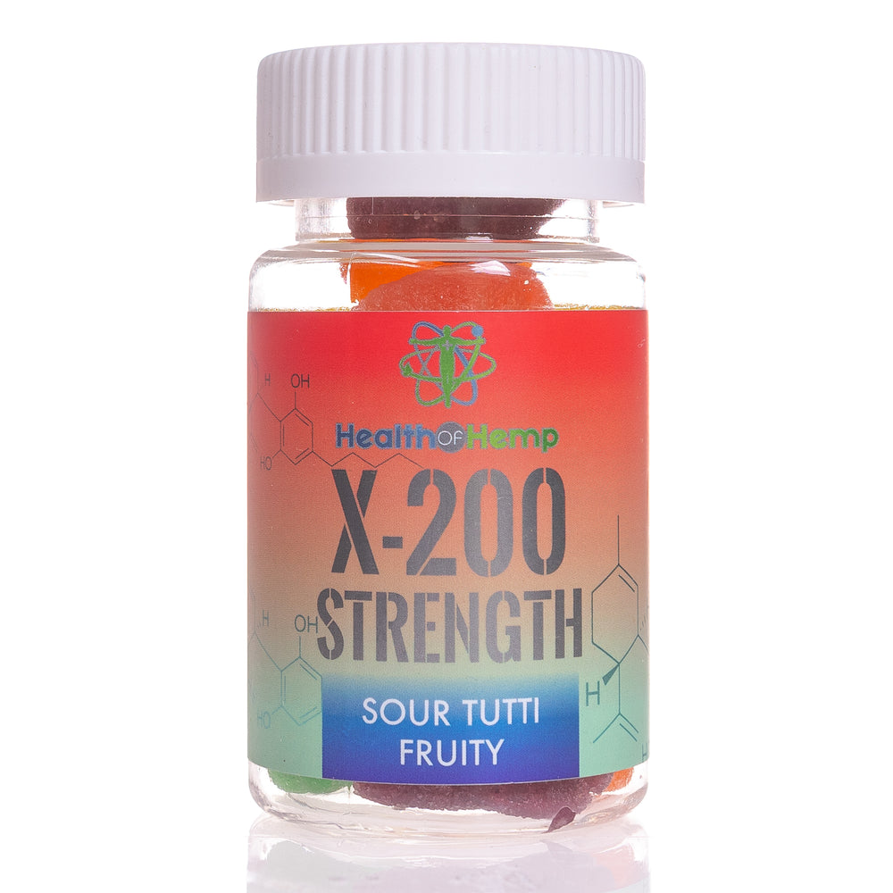 X-200 STRENGTH CBD SOUR TUTTI FRUITY GUMMIES