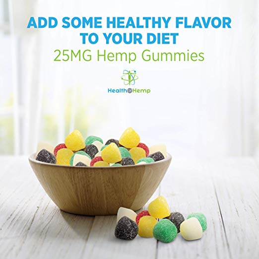 Health Of Hemp Hemp Oil Gumdrops, 25MG Hemp Gummies …