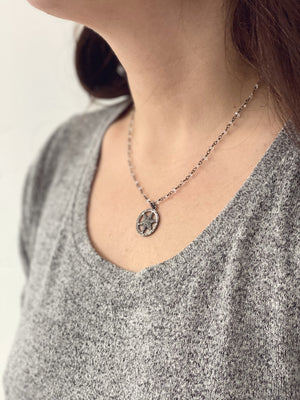 Diamond Star Compass Necklace