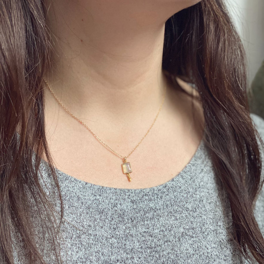 Moonstone Gold Necklace
