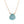 Aqua blue chalcedony pendant on gold fill chain