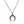 Pave diamond torque pendant oxidized sterling silver chain