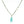 Long blue faceted chalcedony tear drop pendant on blue quartz and apatite bead chain