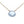 Pale blue faceted chalcedony drop pendant on sterling silver chain.