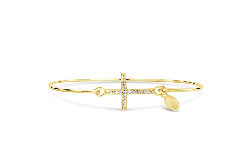 Pavé Icon Bracelet Cross