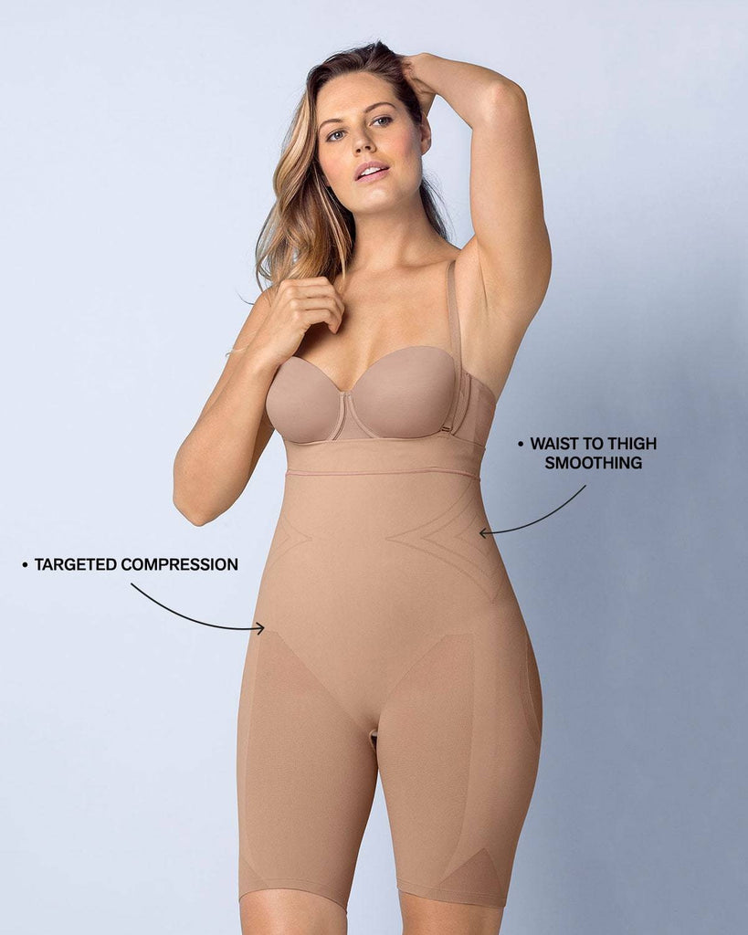 Seamless High Waist Shapewear with Thigh Compression