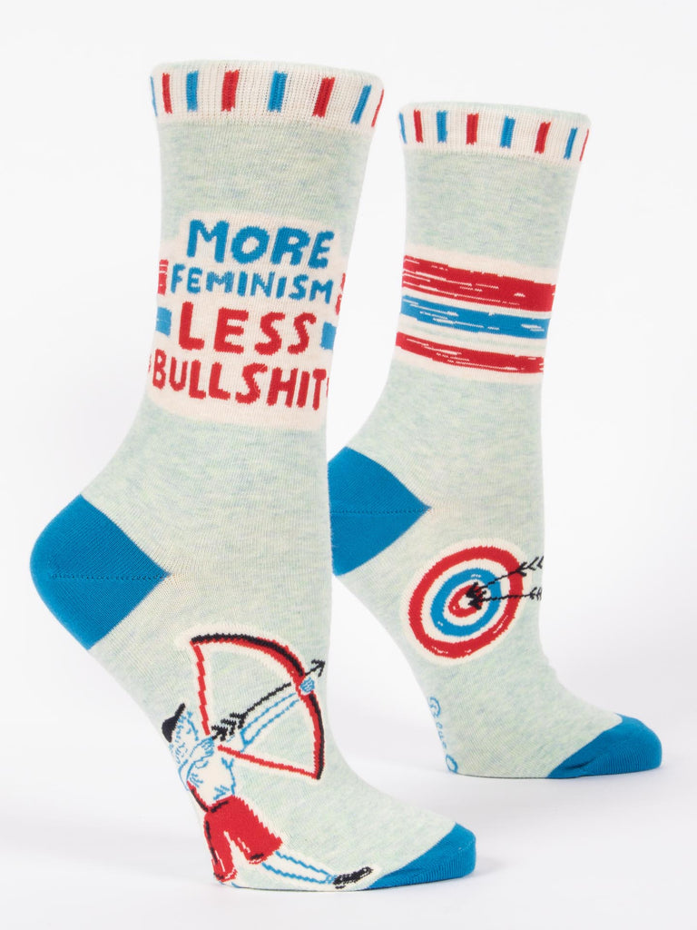 MORE FEMINISM LESS BULLSHIT W-CREW SOCKS