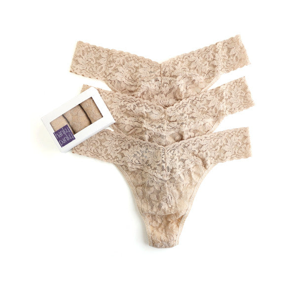 Hanky Panky 3 Pack Original Rise Thongs Chai