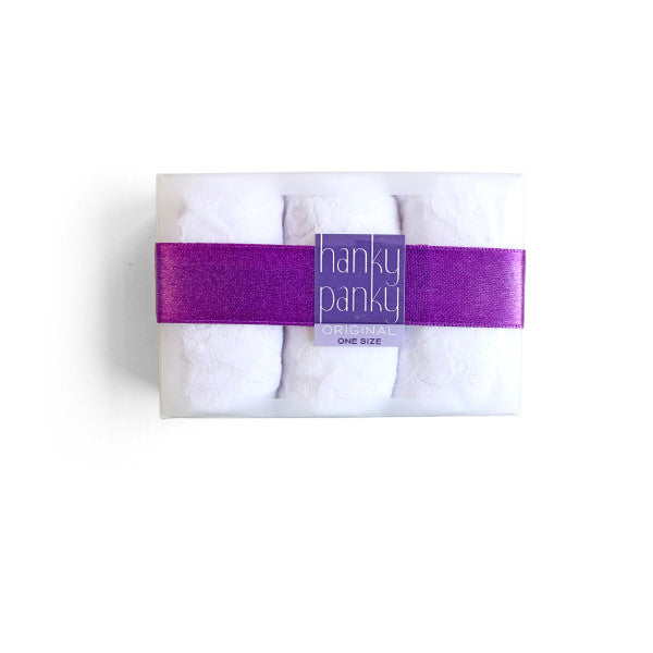 Hanky Panky 3 Pack Original Rise Thongs White