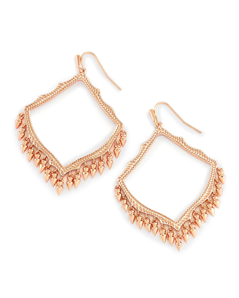 LACY EARRINGS - ROSE GOLD
