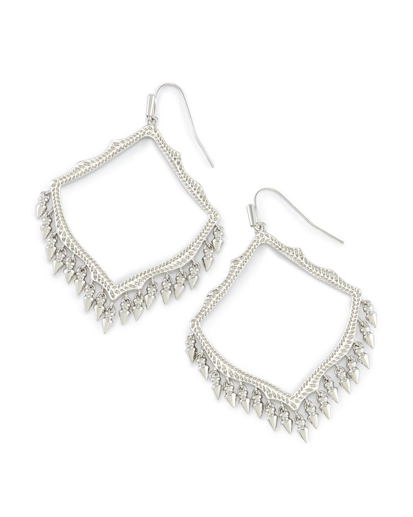 LACY EARRINGS - RHODIUM