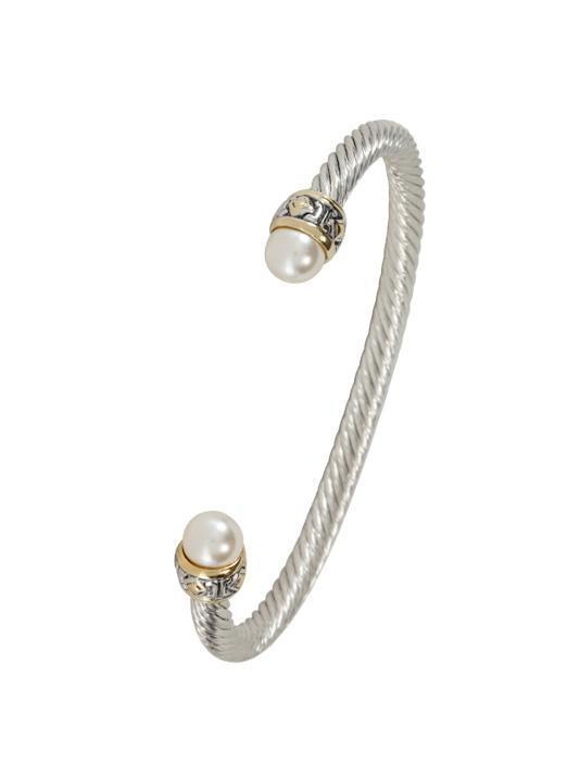 OCEAN IMAGES SMALL PEARL WIRE CUFF BRACELET